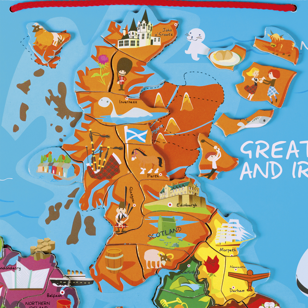 Janod magnetic great britain ireland map geographical wall janod magnetic great britain ireland map gumiabroncs Gallery