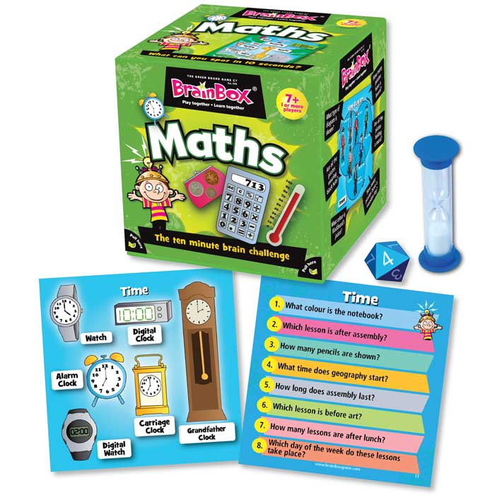 Maths BrainBox Memory Game - Children\'s Maths Brain Box Games for ...