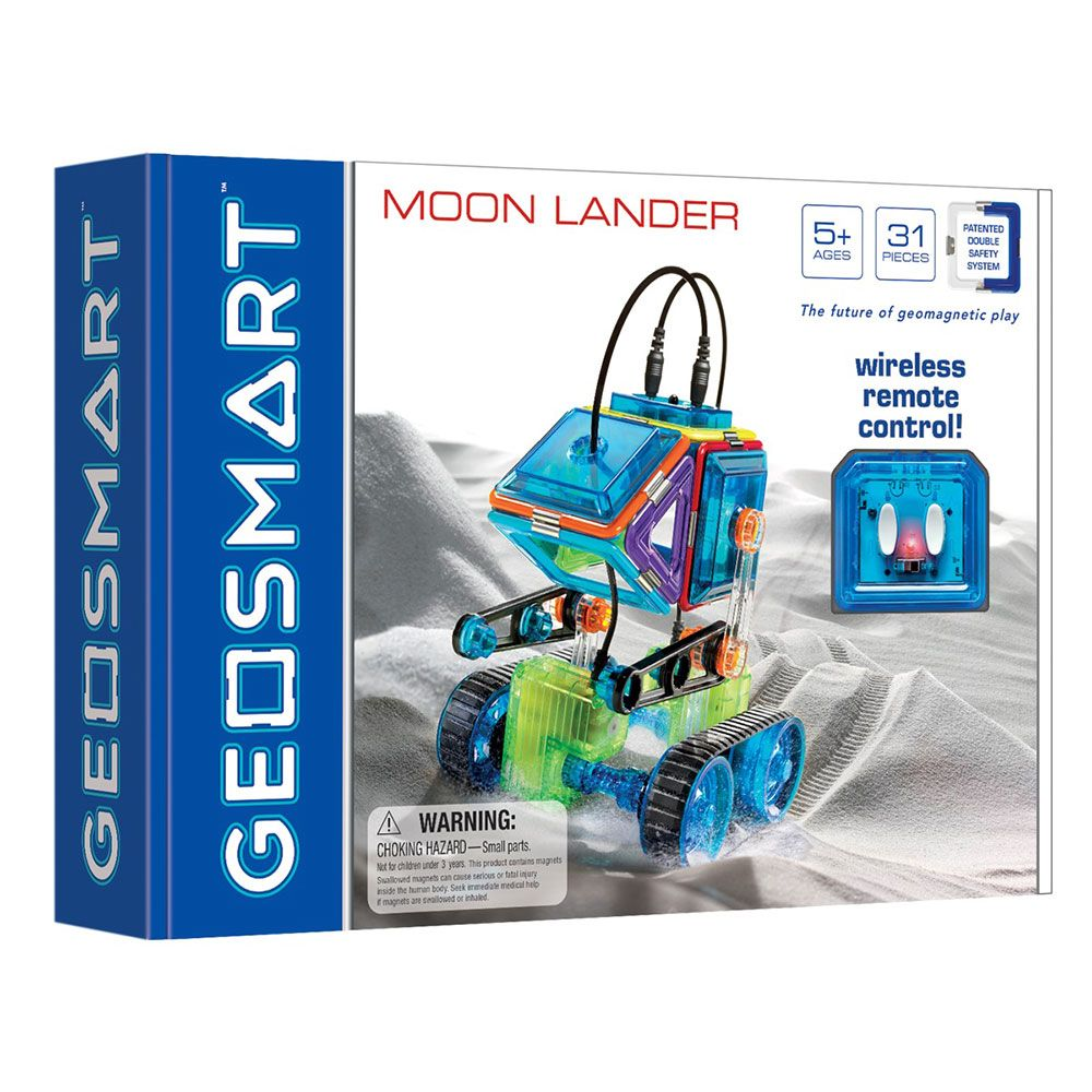 GeoSmart Moon Lander With Wireless Remote Control Magnetic Play 31 PCs