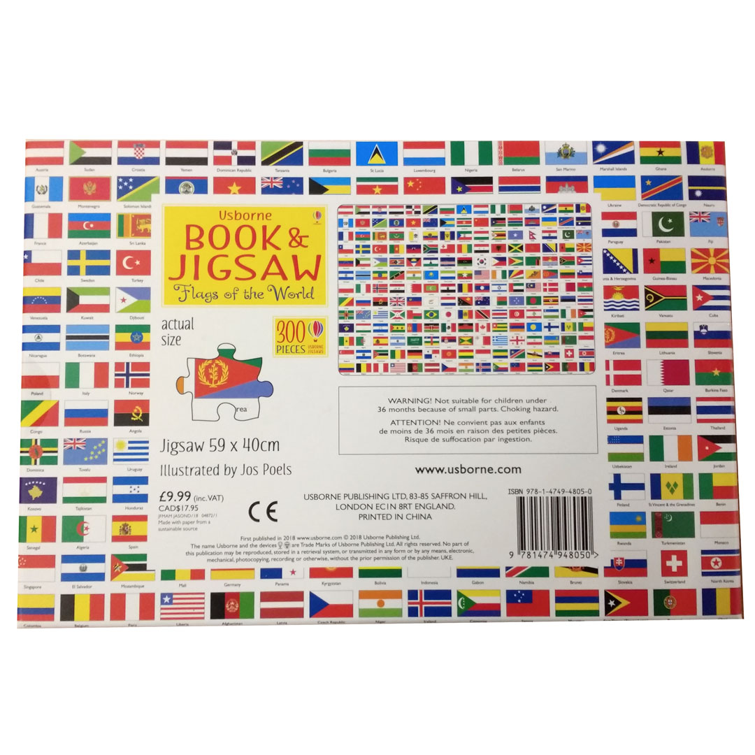 Usborne Libro E Puzzle Bambini Da Colorare Bandiere Del Mondo Ebay