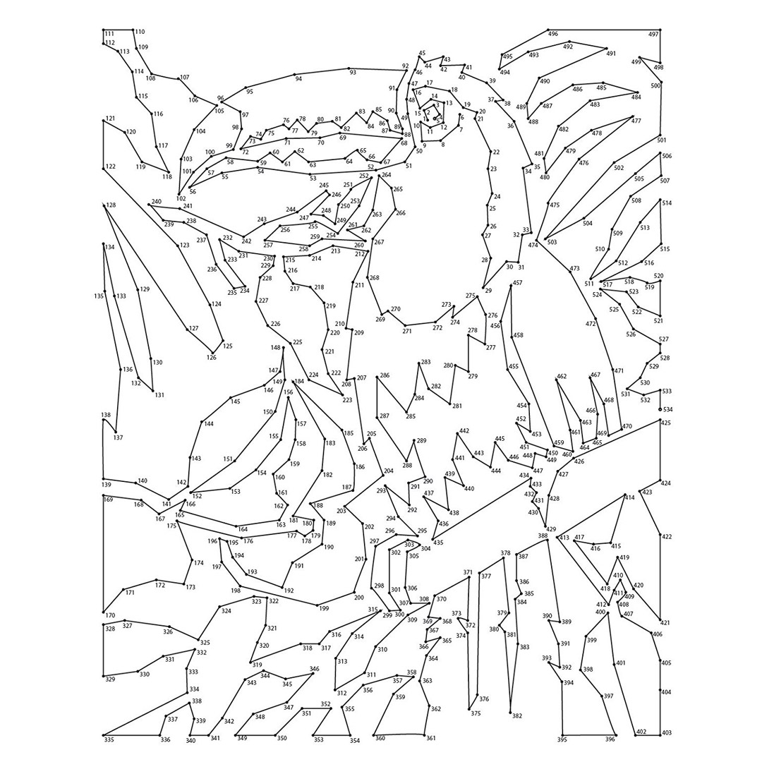 This is an image of Canny Extreme Dot to Dot Printable Pdf
